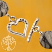 Stegverschluss Herz 17mm Ring 17mm Stab Silber 925