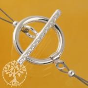 Knebel Verschluss 925 Silber Basic 15mm Ring 21mm Knebel