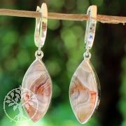 Achat Silber Ohrringe Unikat Traumfänger