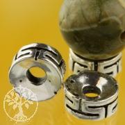 Flat Silver Bead Meander Silverbead 925 8 mm