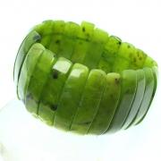 JadeArmband sehr breites Edelsteinarmband 35mm Nephrit Jade/Echte Jade