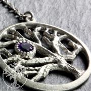 Baum des Lebens Anhänger Amethyst Silber 925 rhodiniert