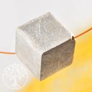 Würfel Silberperle 14 mm diagonal 925 Silber gebürstet