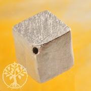 Würfel Silberperle 8mm diagonal 925 Silber gebürstet