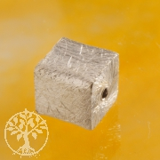 Würfel Silberperle 8 mm gerades Loch 925 Silber gebürstet