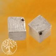 Würfel Silberperle 6 mm diagonal 925 Silber gebürstet