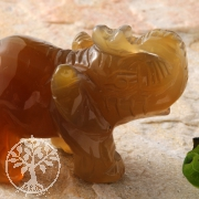 Elefant aus Carneol rotbraun M