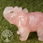 Elefant aus Rosenquarz