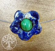 Lapislazuli Malachite Flower small