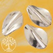 Silberperle handgefertigt in Blattform 925er Silber 33mm
