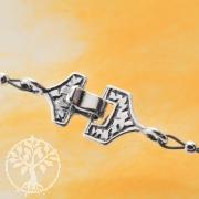 Hakenverschluss kompakt oxidiert Sterling Silber 17/24mm Silberverschluss