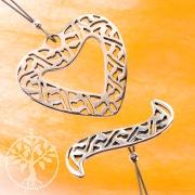 Knebelverschluss Herz 26mm Ring 27mm Stab Silber Verschluss 925