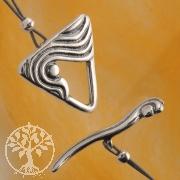 Ring-Stab Verschluss Dreieck 14/20mm Stab Silberverschluss .925