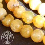 Opal Perlen Gelb A Kuglen  teilweise transparent Andenopal Opalperlen  40cm/10mm