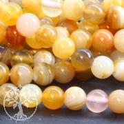 Achat Perlen Orange Kugel 6 mm A Achatperlen Gebändert