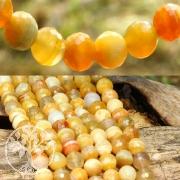 Achat Perlen Orange A Kugel 10mm facettierte Achatperlen