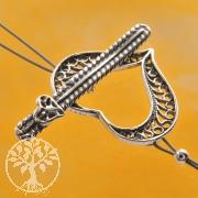 Herz Verschluss Ring-Stab Knebelverschluss 19/28mm Silberverschluss 925