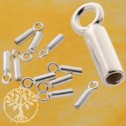 Crimp Endkappe 925 Silber 10 mm Endstück zum Quetschen oder Kleben