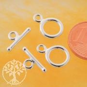 Knebelverschluss Klassic Klein 09/13mm Silberverschluss 925 Set34