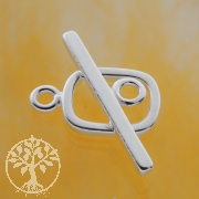 Rechteck Verschluss Ring-Stab Knebelverschluss 13/24mm Silberverschluss 925