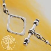 Quadrat Verschluss Ring-Stab Knebelverschluss 10/18mm Silberverschluss 925