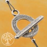 Knebel Verschluss Ring-Stab-Verschluss 14/21mm Silberverschluss 925