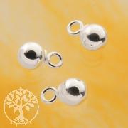 Kugelanhänger 4mm Silber 925 für Ohrringe Charms etc.