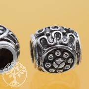Thai sterling silver Tube Beads 925 6x10x10 mm