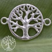 Silberperle Weltenbaum 925 14 mm Silber 925 matt