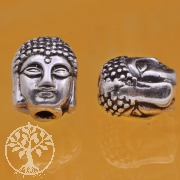 Thai Sterling Silver Tube Beads 925 2x8x9 mm  Thai Budda Head Bracelet Bead