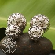925 Silver Earring Stars Design Big Ball 16x16 mm Small 11x11 mm