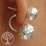 925 Silver Earring Balls Design Big Ball 10x10 mm Small 8x8 mm