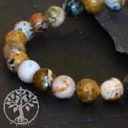 Ocean Jaspis Edelsteine Perlen 8mm A Ozeanachat Achatperlen 40cm