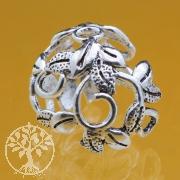 Bead Caps Perlenkappen Blumen Ranken 925 Silber 12x17 mm für 10-12mm Perlen