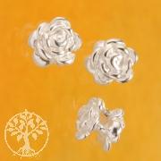 Rose Perle Zwischenteil Silber925 4 mm Beidseitig