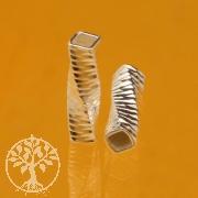 Silber Röhrchen Twist Zebra 10X3mm Silberperle 925