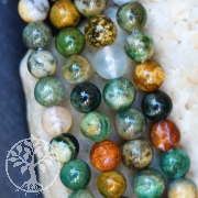 Ocean Jaspis Edelsteine Perlen  4 mm A Ozean Achat
