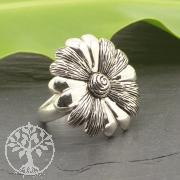 Sterling Silver 925 Ring Flower 24x26mm