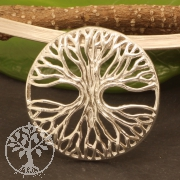 Tree Of Life Pendant Circular Sterling Silver 925 34mm
