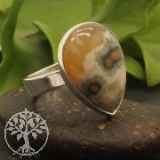 Oceanjaspis Ring Silber 925 21X24mm Grösse 54