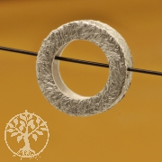 Silver Circle Bead Sterling Silver Brushed 3X11mm