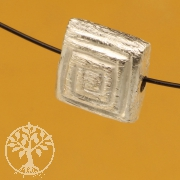 Silver Bead Sterling Silver 925 Brushed 8X8mm