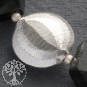 Schmuck Perle Diskus Silber 16mm gebürstet matte Silberperle 925