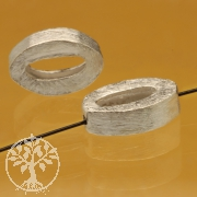 Brushed Silver Bead 8X11mm