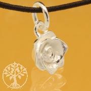 Rose Pandent Valentine Sterling Silver 925 8x16mm