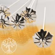 Kopfstift Blüte 51*0.7mm Sterling Silber 925 1,18 Gramm Schwere Ausführung