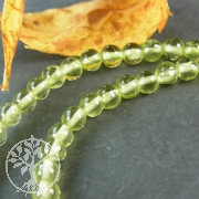 Peridote Necklace 4mm Silver Clasp 925