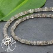 Turmalinquarz Halskette mit Quadrat Scheibenperlen