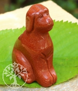 Dog Carving goldstone
