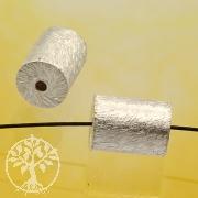 Zylinder  Silberperle gebürstet 5.5x9mm